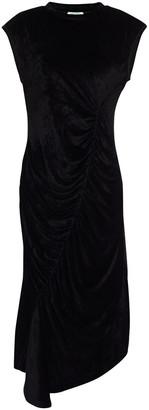 Kenzo Ruched Stretch-velvet Midi Dress