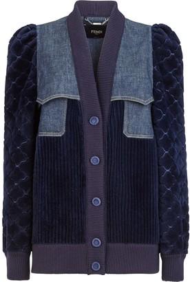 Fendi Denim-Panel Jacket