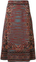 M Missoni floral knit a-line skirt