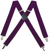 Buy Your Ties SUS-ADF-43 - Eggplant - Solid Suspender - Made In U.S.A - 1.50 Wide - X-BACK