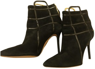 Charlotte Olympia Black Suede Ankle boots
