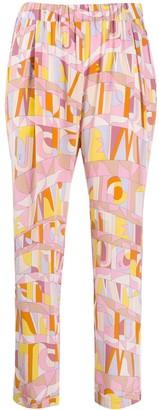 Emilio Pucci Geometric Print Cropped Trousers