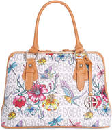 Giani Bernini Floral Signature Dome Satchel, Only at Macy's