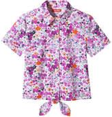Joe Fresh Kid Girls' Print Shirt, Pink (Size XL)