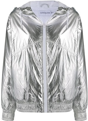 Calvin Klein Jeans Metallic Hooded Windbreaker