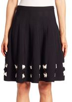 Alexander McQueen Twist Hem Knit Skirt