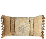 "Dian Austin Couture Home Florentine Pillow with Ruched Silk Insets, 15"" x 26"""