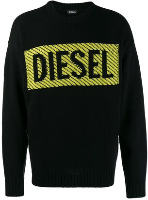 Diesel 3D logo print jumper