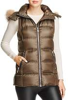 Andrew Marc Claire Fox Fur Trim Down Vest