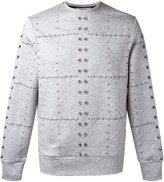 Tim Coppens eyelet crew neck jumper - men - Polyester/Tencel - S