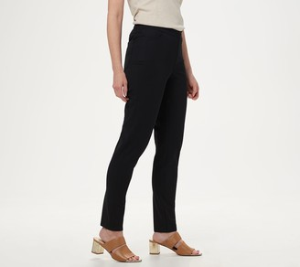 Isaac Mizrahi Live! Regular 24/7 Stretch Slim Leg Pants with Pockets