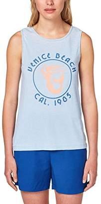 Esprit edc by Women's 068cc1k039 Vest, Blue (Light 440), Large