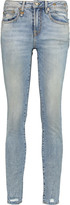 R 13 Alison distressed mid-rise skinny jeans