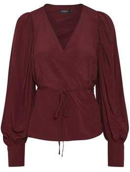 Soaked In Luxury Soaked in Luxury - Milany Blouse In Zinfandel Red - extra small | polyester | burgundy - Burgundy