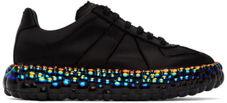 Maison Margiela Black Iridescent Caviar Sneakers