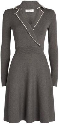 Sandro Embellished Mini Dress