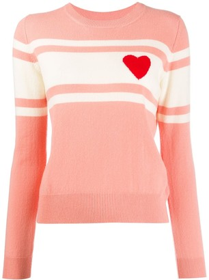 Parker Chinti & knitted heart striped jumper