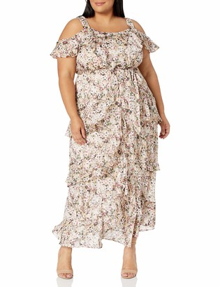 Rachel Roy Women's Plus-Size Luciana Chiffon Printed Maxi Dress
