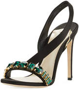 Olgana Paris Amazone Jeweled Asymmetric Slingback Sandal