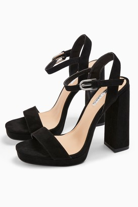 Topshop Womens Sabine Black Platform Heels - Black