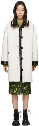 Stand Studio White and Black Jacey Coat