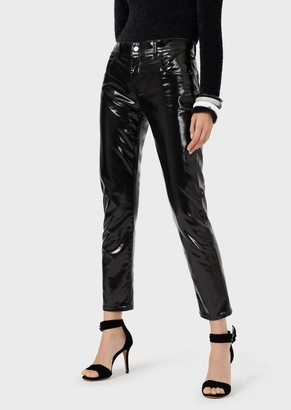 Emporio Armani J36 Regular-Fit Vinyl Trousers