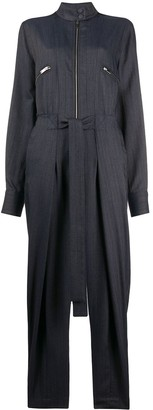 Stella McCartney Tie-Waist Zipped Denim Jumpsuit