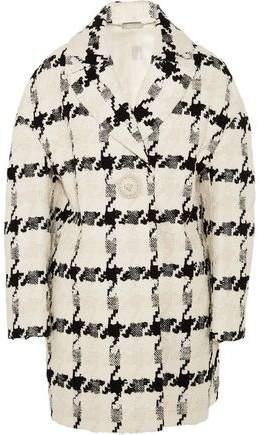 Alexander McQueen Houndstooth Tweed Coat