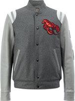Lanvin lobster embroidered Baseball jacket - men - Cotton/Calf Leather/Polyamide/Virgin Wool - 50
