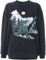 See by Chloe mountain scene sweatshirt - women - Cotton - XS