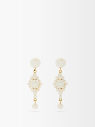 Sophie Bille Brahe Venezia Pearl & 14kt Gold Earrings - Pearl
