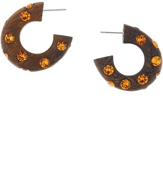 Oscar de la Renta Crystal-Embellished Hoop Earrings