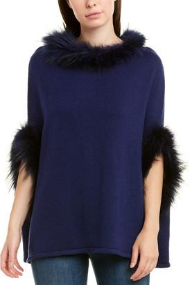 Stella + Lorenzo Walter Wool-Blend Poncho Sweater