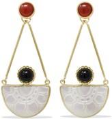 Mother of Pearl Opera Onyx, Carnelian & Earrings