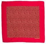 Hermes Geometric Silk Pocket Square