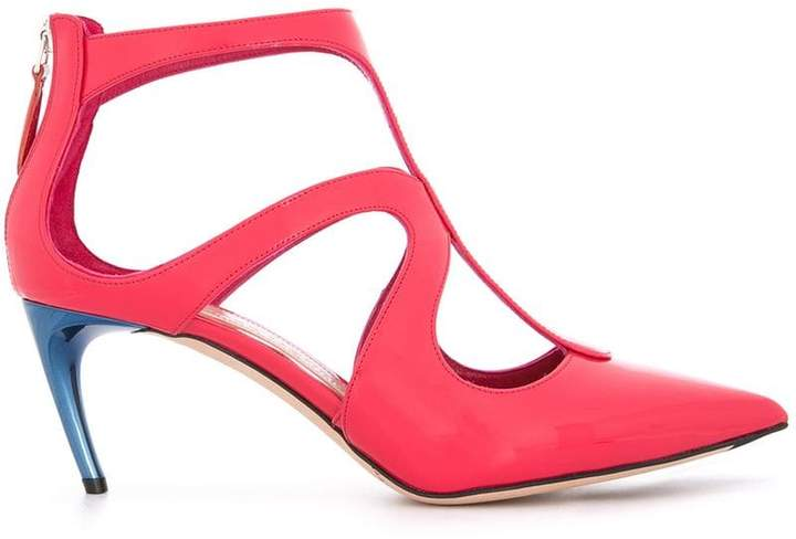 Alexander McQueen pointed varnished pumps
