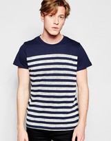 Jack and Jones Crew Neck Stripped T-Shirt