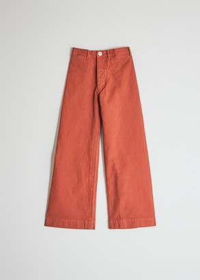 Jesse Kamm Women's Sailor Pant in Paprika, Size 2 | 100% Cotton