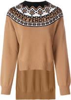Fendi geometric knit sweater