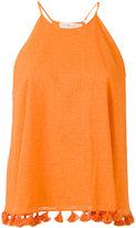 Tory Burch tassel detail flared blouse