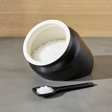 Crate & Barrel Metro Black Salt Caddy Cellar