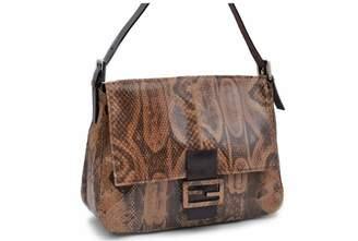 Fendi Mamma Baguette Brown Exotic leathers Handbags