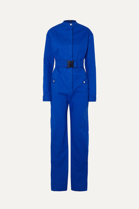 Kwaidan Editions Belted Bonded-cotton Jumpsuit - Blue