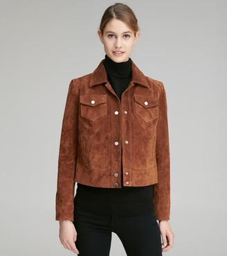 Andrew Marc Final Sale ARDEN SUEDE TRUCKER JACKET