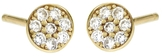Jennifer Meyer Diamond Circle Stud Earrings - Yellow Gold
