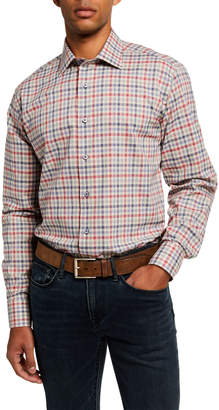 Neiman Marcus Men's Modern Fit Plaid Sport Shirt