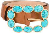 Roberto Cavalli embellished buckle belt - women - Leather - S