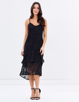 Warehouse Floral Jacquard Strappy Dress