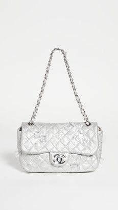 What Goes Around Comes Around Chanel Silver Ice Cube Half Flap Bag