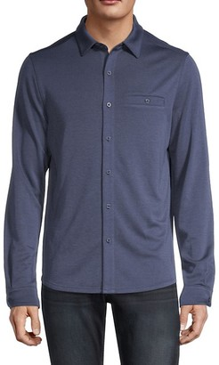 Saks Fifth Avenue Soft Knit Button-Down Shirt